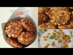 Vada Recipes  (Curd vada Masala Vada Sago vada)