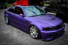 BMW E46 M3 matte purple slammed