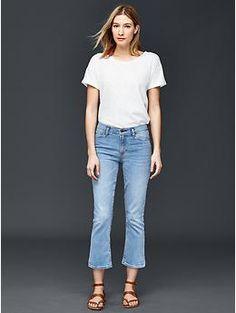 AUTHENTIC 1969 crop kick jeans | Gap