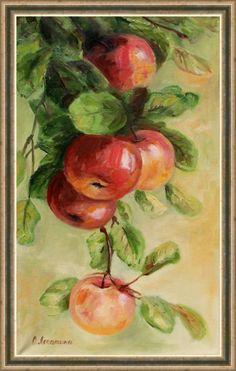 Наливные яблочки (по мотивам). Олеся Лопатина. Холст 50*30см, масло.