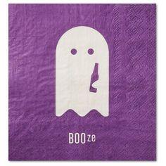 30 Watt Halloween Humor Beverage Napkins - BOOze 20ct : Target