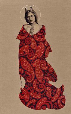 Magdalena, Portrait | Sofia Minson Artist Artwork Prints, Fine Art Prints, New Zealand Art, Nz Art, Fractal Patterns, Maori Art, Great King, Human Soul, Arts Ed