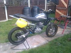 This my Moto Team Racer I built a couple of years ago from a Honda city fly town bike . Great fun had on this.