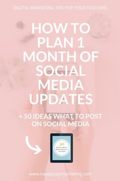 We are going to take the guess work out of social media posts and batch create and schedule posts for one month in advance! Social Media Updates, Social Media Tips, Social Media Marketing, Qi Gong, How To Use Facebook, Instagram Tips, Blogging For Beginners, Yoga Teacher, 1 Month