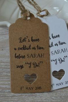 I DO Personalised Hen Do Party Gift Tags Thank you Label Kraft