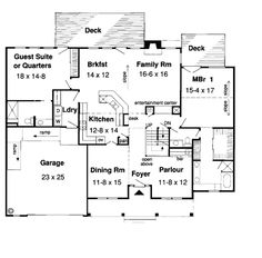 Saltbox houses  Colonial and House plans on PinterestFirst Floor Plan of Colonial Country Saltbox House Plan     but make