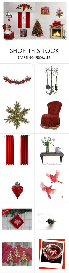 The Faith of a Child by cozeequilts on Polyvore featuring Shishi, Jayson Home, National Tree Company, Nearly Natural, Cyan Design and rustic