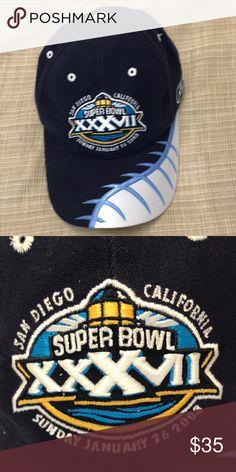 Men s Super Bowl hat Men s Super Bowl hat Blue 1 26 2003 Reebok Accessories 2079b1e6c5f
