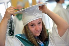 One sibling had Down syndrome, the other didn't. They both graduated, and now they're off to college.