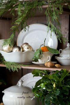FRENCH COUNTRY COTTAGE: French Country Cottage Christmas ~ Home Tour Vintage and rustic Christmas decor