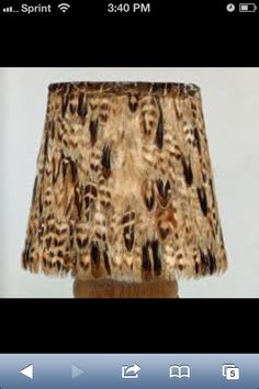 Pheasant Feather Lamp Shade