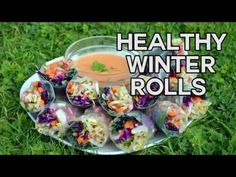 Winter Rolls with Raw Sweet Chilli Dip - Nest and Glow
