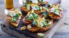 Slow-Cooker Chicken Chili-Stuffed Sweet Potato Skins