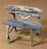 Image result for Twig Garden Bench
