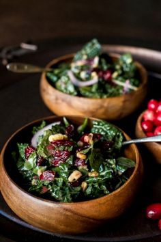 Cranberry-Walnut salad.