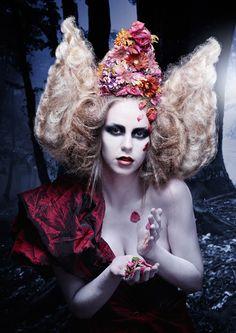 Avantgarde hairstyle by Sara Arnald, via Behance