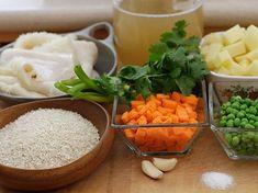 Receta de Sopa de Arroz Colombian Food, Deli, Grains, Rice, Vestidos, Rice Soup, Snap Peas, Salads, Cooking