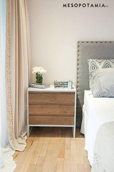 MESA DE LUZ MODELO PALOMA - Mesopotamia Bed Design, House Design, Bed Backrest, Small Apartments, Beautiful Interiors, My Room, Diy Home Decor, Bedroom Decor, Master Bedroom