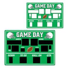 Super Bowl FOOTBALL Chalkboard SCOREBOARD Game Day Cutout Birthday Party Decorat #Beistle