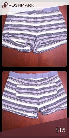 Striped shorts Comfortable shorts with elastic waistband. Cuter than sweatshorts, but just as comfy! LOFT Shorts