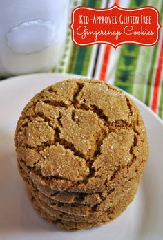 Are you looking for the perfect gluten free gingersnap cookies recipe? This recipe makes crispy, yet chewy gingersnap cookies that even the kids will love! These crunchy crinkle cookies are a fun and Gluten Free Deserts, Gluten Free Sweets, Foods With Gluten, Dairy Free Recipes, Gluten Free Xmas Baking, Easy Gluten Free Cookies, Gluten Free Bakery, Gluten Free Diet, Gf Recipes