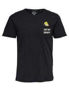 PRINTED T-SHIRT, Black, large