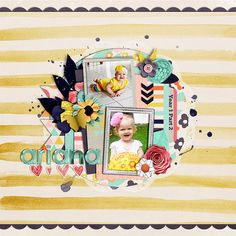 Cover page for baby album part 2 Cindy's Templates Set 200 by Cindy Schneider Be a Voice by La Grier and Amanda Yi