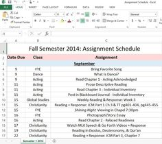 A must have all college students: Assignment Planner! A simple, stress-free, and worry-free way to never miss a due date and pass every class! College Schedule, College Classes, College Life, College Planner, College School, School Tips, Assignment Planner, College Organization, Planner Organization