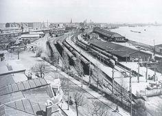1954. Station Rotterdam Maas. De trein naar Utrecht