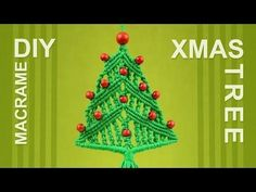 How to Christmas Tree / Macrame Xmas Ornament / Decoration