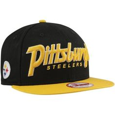 New Era Snap It Back Pittsburgh Steelers Snapback Hat Black. Size: by New Era. $27.95. New Era Pittsburgh Steelers Snap It Back 9FIFTY Snapback Hat - Black/Gold100% CottonStructured fitAdjustable plastic snap strapOfficially licensed NFL productQuality embroideryImportedFlat bill100% CottonStructured fitFlat billAdjustable plastic snap strapQuality embroideryImportedOfficially licensed NFL product
