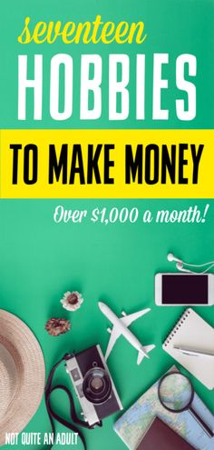 Everybody could use a bit more money in their pocket, why not turn their hobby into a side job? Here's a list of great hobbies that will make you money Hobbies That Make Money, Great Hobbies, Make More Money, Extra Money, Things To Sell, Earn Money From Surveys, Home Based Business, Online Business, Easy Online Jobs