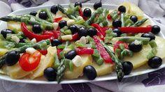 Ensalada de patatas y vegetales