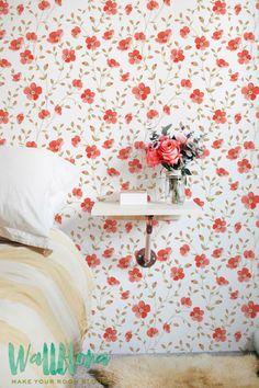 Luxurious Peony Vintage Pattern Wallpaper | Removable Wallpaper | Wall Sticker | Wall Decal | Vintage Peony Self Adhesive Wallpaper