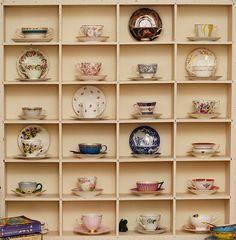 I have about a zillion tea cups, and need a good way to display them...