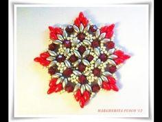 Tutorial:DIY  Ciondolo natalizio con superduo Antares (Christmas pendant)