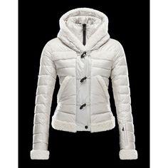 Moncler Femme - Acheter Blanc Doudoune Moncler Fur Down Veste 2014 Pour  Femme 87a50ae9415