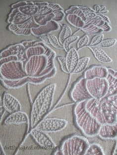 Awesome Most Popular Embroidery Patterns Ideas. Most Popular Embroidery Patterns Ideas. Embroidery Stitches Tutorial, Flower Embroidery Designs, Embroidery Techniques, Machine Embroidery Patterns, Flower Designs, Applique Designs, Embroidery Ideas, Embroidery Books, Hardanger Embroidery