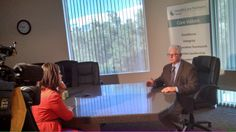 Dr. Bard coats with HealthCare Partners Nevada being interviewed by Lauren Rozyla of 8 News Now discussing how the #ACA is affecting demand for doctors.