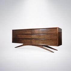Vladimir Kagan Credenza or Sideboard Furniture Storage, Furniture Design, Coffee Table Legs, Modern Sideboard, Dressers, Cnc, Cabinets, Mid Century, Shelves