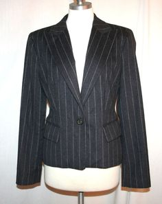 Michael Kors Top Tier Gray Angora/Wool/Cashmere Jacket Sz 10 Made in Italy #MichaelKors #Blazer