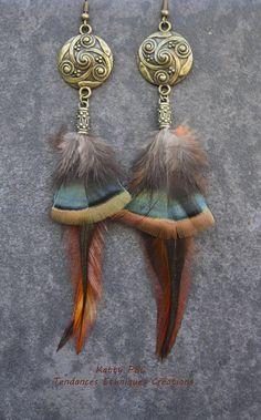 Boucles d'oreilles plumes Ahiga