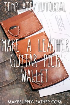 Want to make a hand-stitched guitar pick leather wallet? Check out our free downloadable PDF template with full HD video build along tutorial!