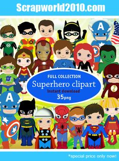 superhero digital graphics