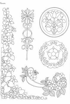 Embroidery Art Nouveau Coloring Pages 37 Ideas Motifs Art Nouveau, Design Art Nouveau, Art Nouveau Pattern, Flores Art Nouveau, Art Nouveau Flowers, Embroidery Art, Embroidery Patterns, Tattoo Painting, Nouveau Tattoo