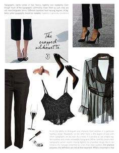 """""""The cropped silhouette"""" by mirelakljajic ❤ liked on Polyvore featuring ODYLYNE, Christopher Kane, Acne Studios, Bobbi Brown Cosmetics, Riedel, Christian Louboutin and Elizabeth Arden"""
