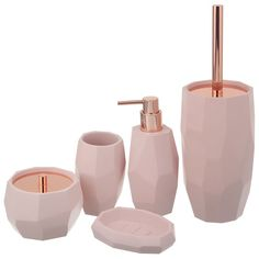 best home decor Pink Bathroom Decor, Gold Room Decor, Gold Bedroom, Bathroom Interior Design, Bedroom Decor, Bathroom Accessories Sets, Home Accessories, Rose Gold Rooms, Bathroom Organization
