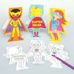 Buy Super Mum Cards at Baker Ross. Mum to the rescue! Tell your mum how super she is with her own personalised card. Mothers Day Crafts, Crafts For Kids, Arts And Crafts, Children Crafts, Pop Out Cards, Super Mum, Cool Birthday Cards, Scratch Art, Card Making Supplies