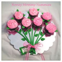 Mothers Day Desserts, Mothers Day Cupcakes, Mothers Day Cake, Cupcakes Flores, Floral Cupcakes, Floral Cake, Pull Apart Cake, Pull Apart Cupcakes, Birthday Cupcakes
