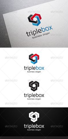 Triple Box - nice solution #Logo #design